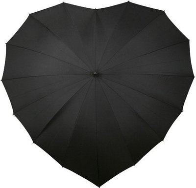 Falcone hartparaplu zwart