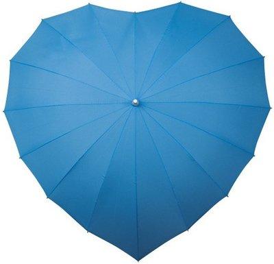 Falcone hartparaplu lichtblauw
