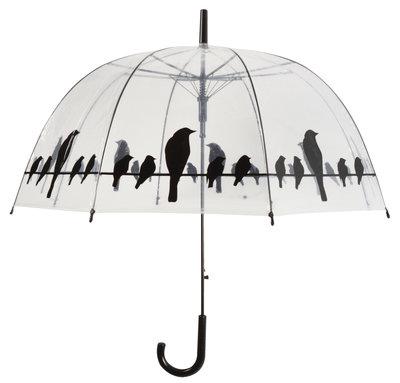Esschert Design transparante kraaien paraplu