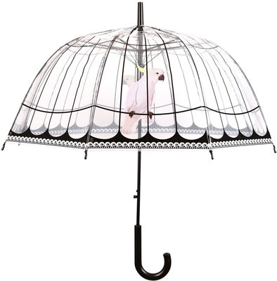 Esschert Design transparante vogelkooi paraplu