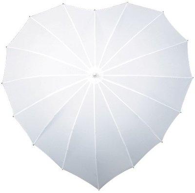 Falcone hartparaplu wit