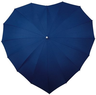 Falcone hartparaplu donkerblauw