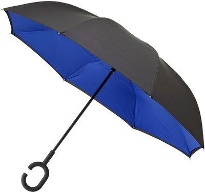Falcone Inside Out windproof paraplu blauw