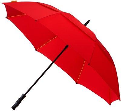 Falcone Robuust windproof golfparaplu rood