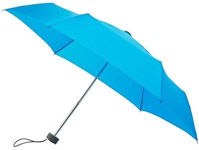 MiniMAX Flat opvouwbare windproof paraplu lichtblauw