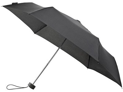 MiniMAX Flat opvouwbare windproof paraplu zwart